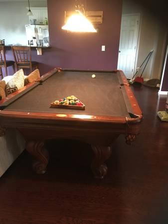 Used 8 Brunswick Pool Table At Everything Billiards Greensboro >> Solo Aiken Leisure Bay Billiards Pool Table 1